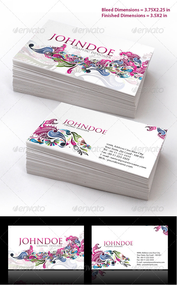 Stylish Floral Business Card Set - Creative Business Cards