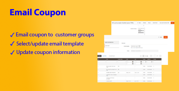 Magento 2 Email Coupon - CodeCanyon Item for Sale