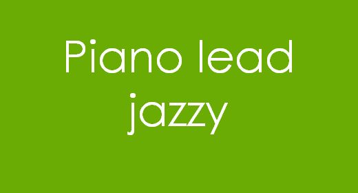 Piano lead Jazzy