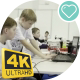 Children Work On a Computer To Create a Robot - VideoHive Item for Sale