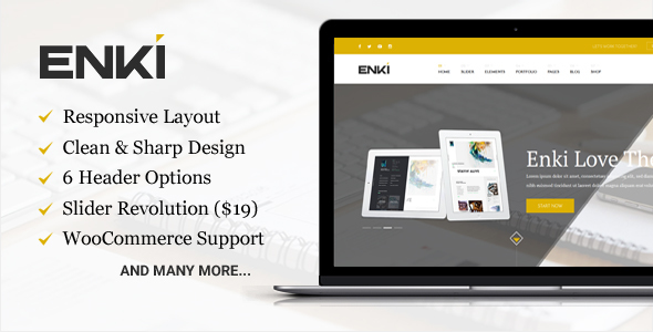 Enki ultimate corporate WordPress theme
