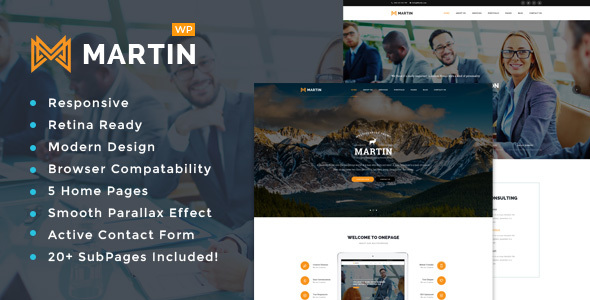 Martin – Multipurpose Responsive WordPress Theme