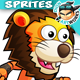Lion Warrior Game Character Sprites 222 - GraphicRiver Item for Sale