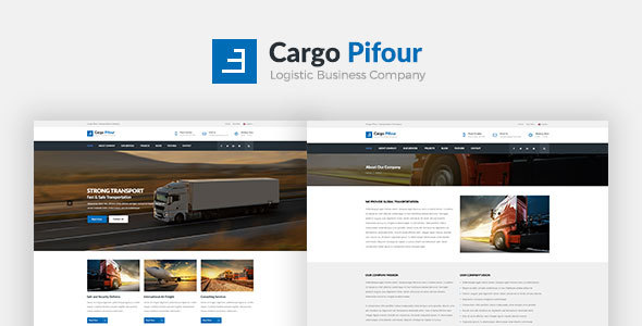 Cargo Pifour – Logistic and Transportation Psd Template