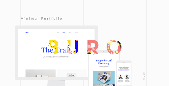 Büro – Minimal Bootstrap & Typography Portfolio Template