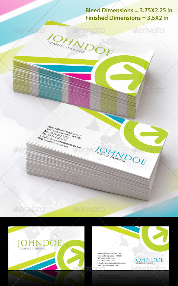 Marketing Stylish Business Card Set by redshinestudio | GraphicRiver