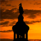 The Statue Of Freedom US Capitol Sunset Silhouette - VideoHive Item for Sale