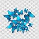 Group of Blue Butterflies - VideoHive Item for Sale