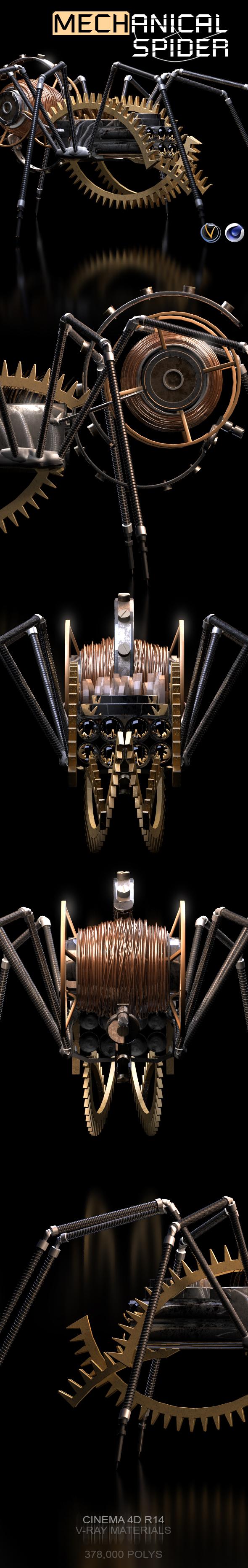 Mechanical Spider 3D Model - 3DOcean Item for Sale