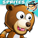 Bear Warrior Game Character Sprites 223 - GraphicRiver Item for Sale