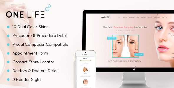 One Life - Plastic Surgery WordPress Theme