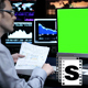 Green Screen Business Monitor