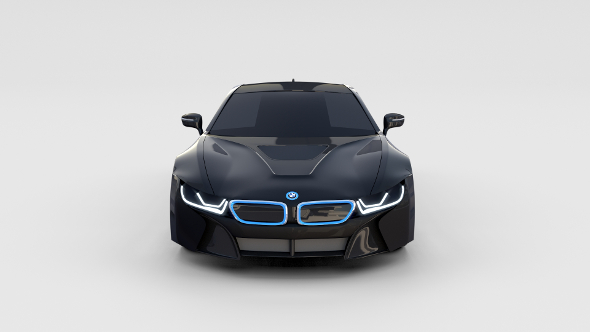 BMW i8 Black rev - 3DOcean Item for Sale