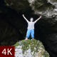 Man Happy In Front Of Cave - VideoHive Item for Sale