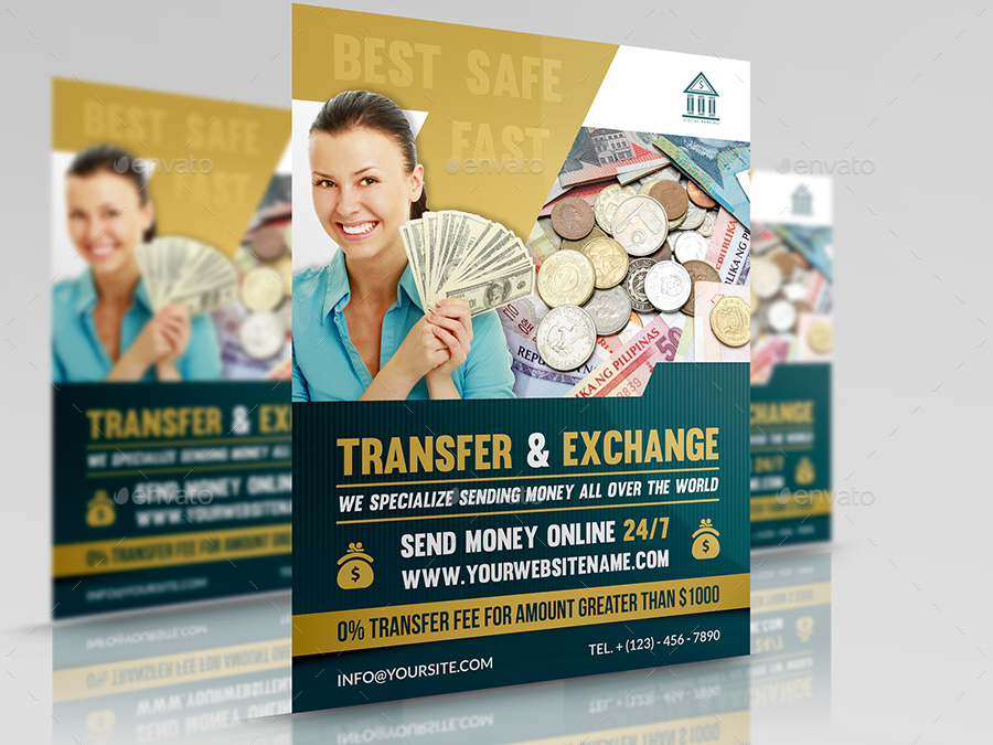 Transfer Exchange Money Flyer Template Corporate Flyers 01 And Jpg 02