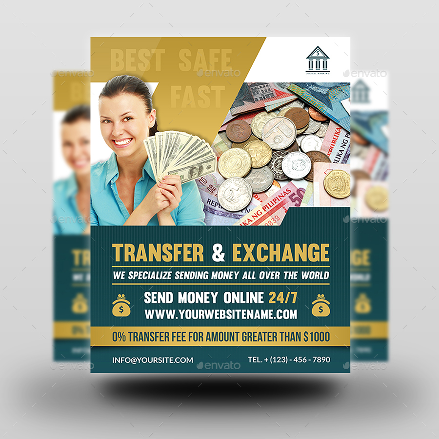 Transfer Amp Exchange Money Flyer Template By Owpictures