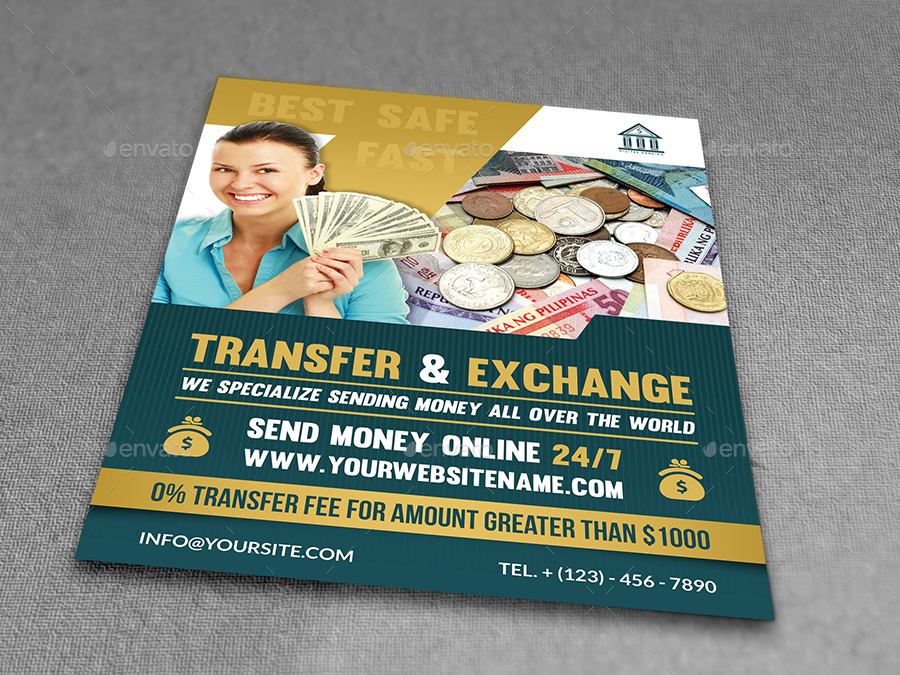 Transfer Exchange Money Flyer Template By OWPictures GraphicRiver - Money flyer template