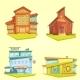 Building Cartoon Set