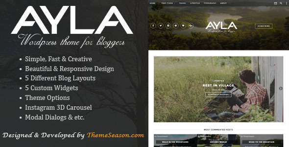 Ayla - Responsive WordPress Blog Theme - Blog / Magazine WordPress