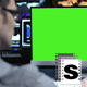 Green Screen Office Data - VideoHive Item for Sale