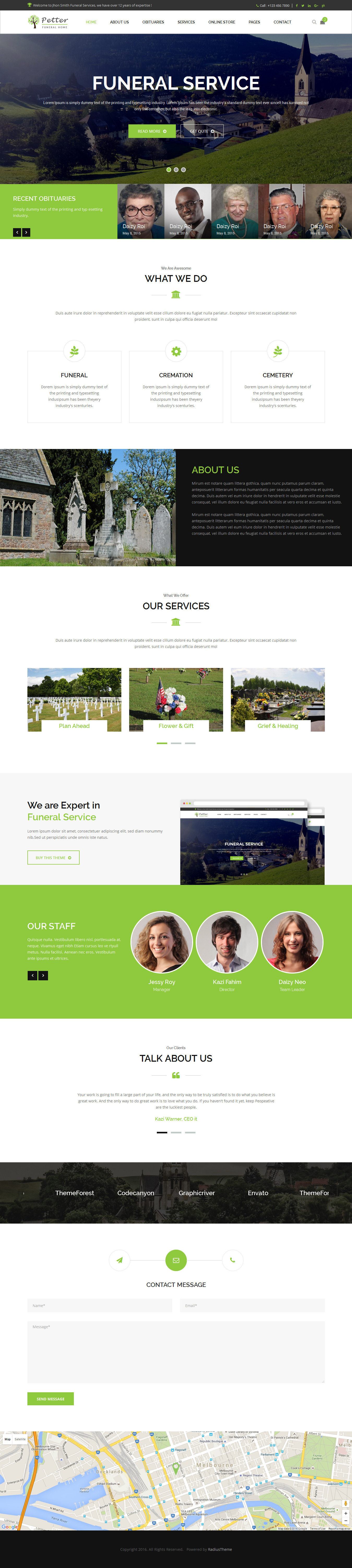 Petter | Funeral Service HTML5 Responsive Template by RadiusTheme