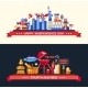 USA Independence Day and BBQ Banners Set - GraphicRiver Item for Sale