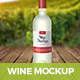 Wine Bottle Mockup - GraphicRiver Item for Sale
