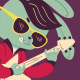 Rockabilly Bunny Playing Guitar - GraphicRiver Item for Sale