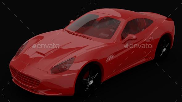 HDRi Rendered Three-Point studio light setup HDR image - 3DOcean Item for Sale