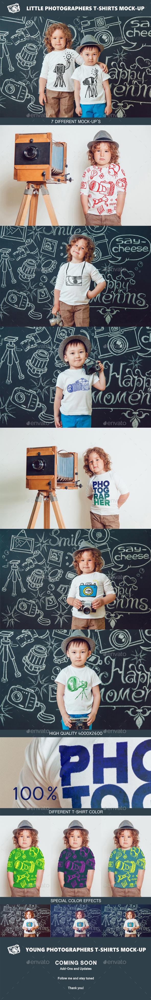 Little Photographers T-Shirt Mock-Up