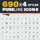 Pure Line Icons - GraphicRiver Item for Sale