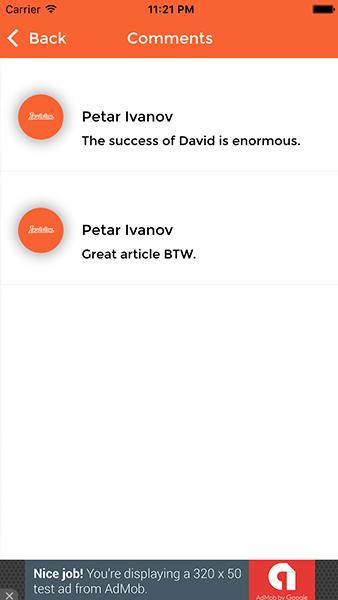 Invision – Ionic WordPress App