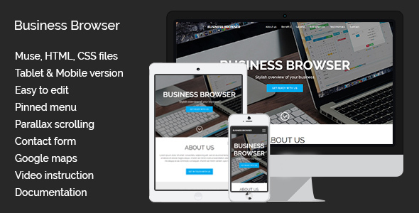 Business Browser | Muse Template