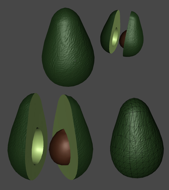 Avocado for Games - 3DOcean Item for Sale