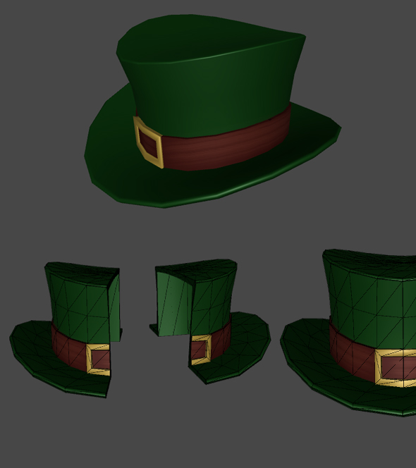 Green Hat of Patrick for Games - 3DOcean Item for Sale