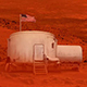 Space Base On Mars With American Flag - VideoHive Item for Sale