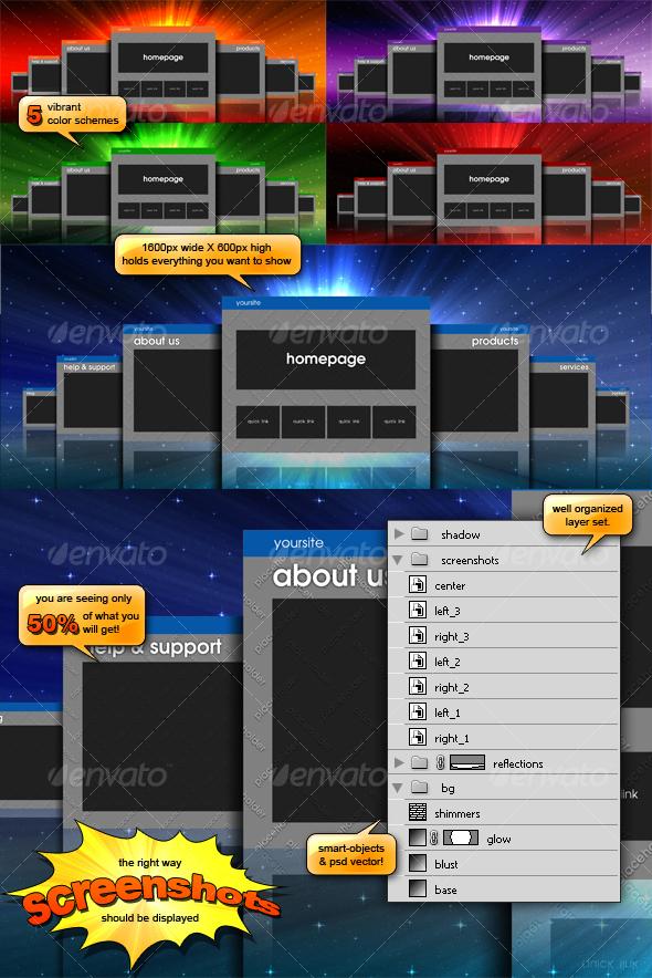 big screenshots - 3D Backgrounds