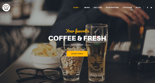 Top Best Premium Restaurant Website Templates Joomla 2016
