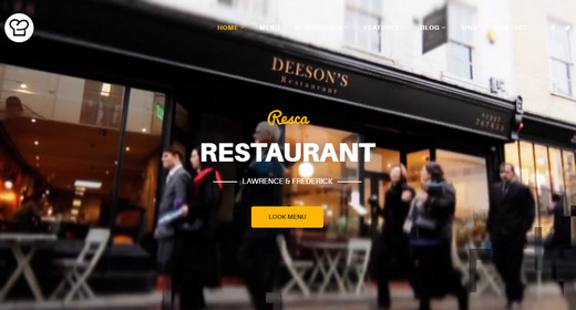 Great Restaurant Menu Design Templates for Joomla