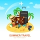Exotic Island and Travel Accessories - GraphicRiver Item for Sale
