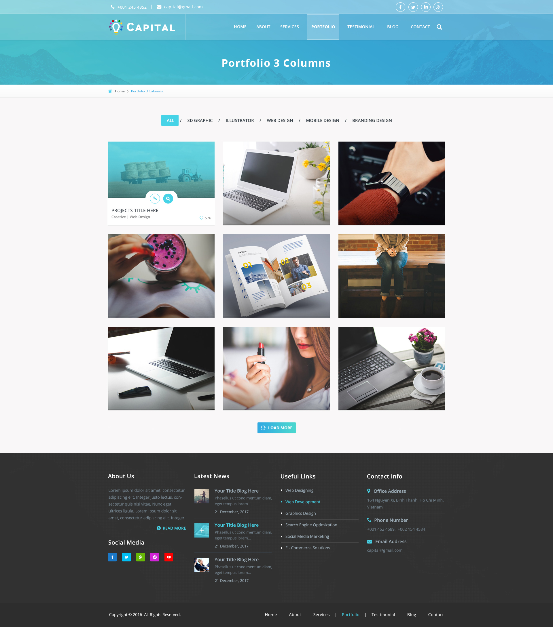 Capital Creative Agency PSD Template by viaviwebtech   ThemeForest