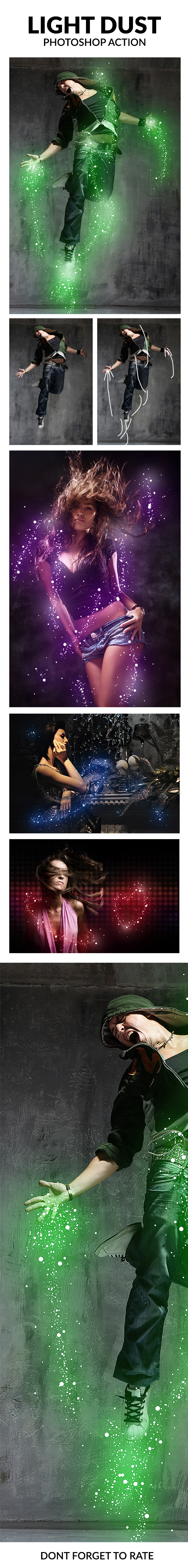 Light Dust Photoshop Action - Photo Effects Actions
