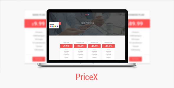 PriceX | Material Design Pricing Table Set - CodeCanyon Item for Sale