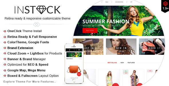 Instock-Responsive Magento Multi-Concepts Theme - Magento eCommerce