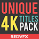 31 Unique Titles Pack - VideoHive Item for Sale