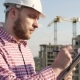 Engineer Looking On Project On Construction Site - VideoHive Item for Sale
