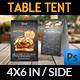 Burger Restaurant Table Tent Template Vol.2 - GraphicRiver Item for Sale