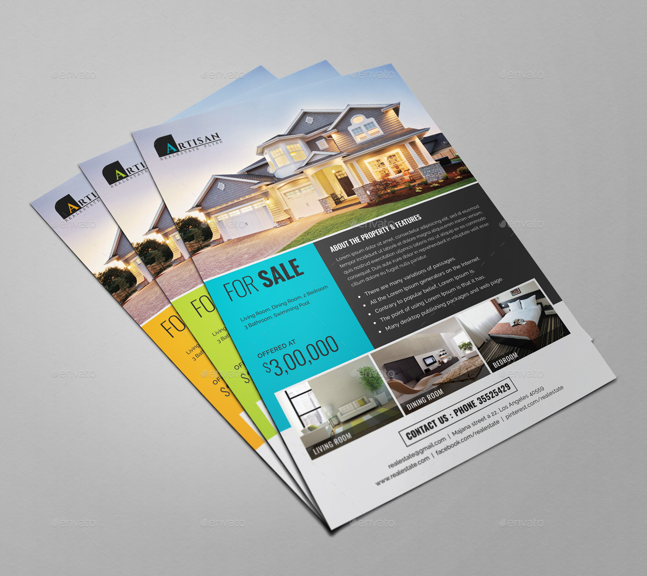 Real Estate Flyer By Themedevisers GraphicRiver - Real estate photography flyer templates