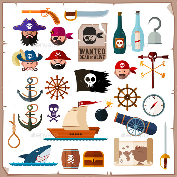 Pirate Icon Collection - People Characters