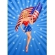 Pin-Up Blond Patriotic Woman - GraphicRiver Item for Sale